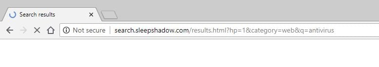 search.sleepshadow.com redirect virus