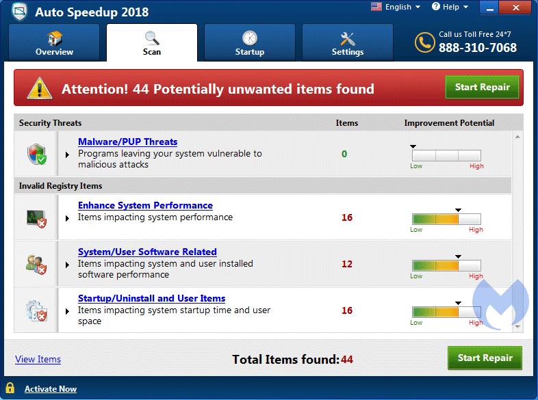 Auto Speedup 2018 Adware