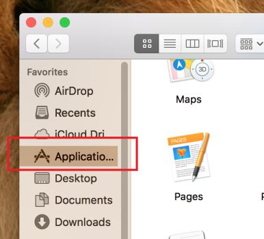 Click Applications macOS