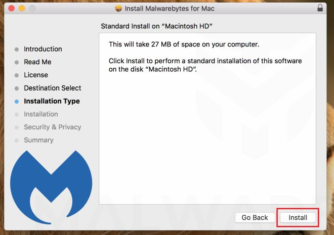 Malwarebytes for Mac - Install Part 3
