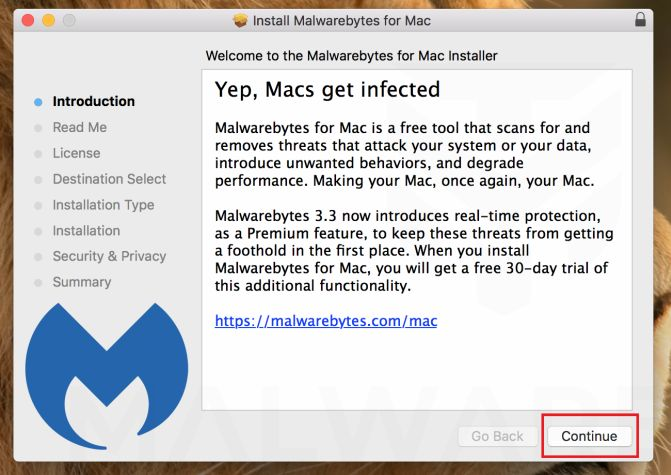Malwarebytes for Mac - Install