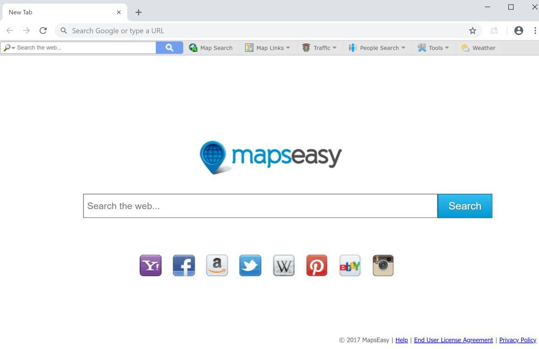 Search.mapseasy.net redirect virus