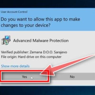 Click Yes to install Zemana AntiMalware
