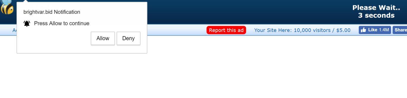 Brightvar.bid pop-up ads