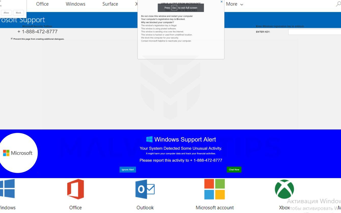 Error #278D5 Microsoft Scam virus