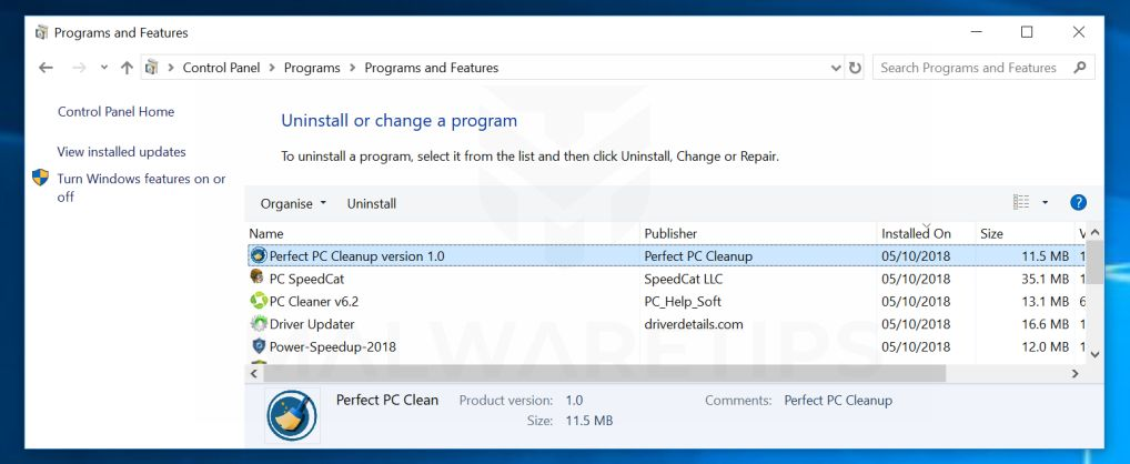Uninstall Power System Care from Windows