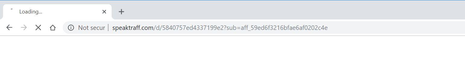 speaktraff.com redirect virus