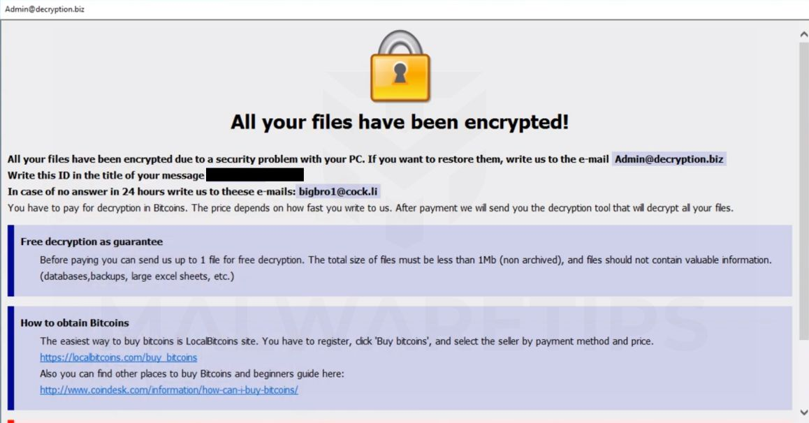 "How To Remove ""Your personal files are encrypted"" Ransomware"
