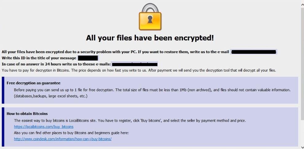 Remove Helpfilerestore@india com ETH ransomware (Virus Removal Guide