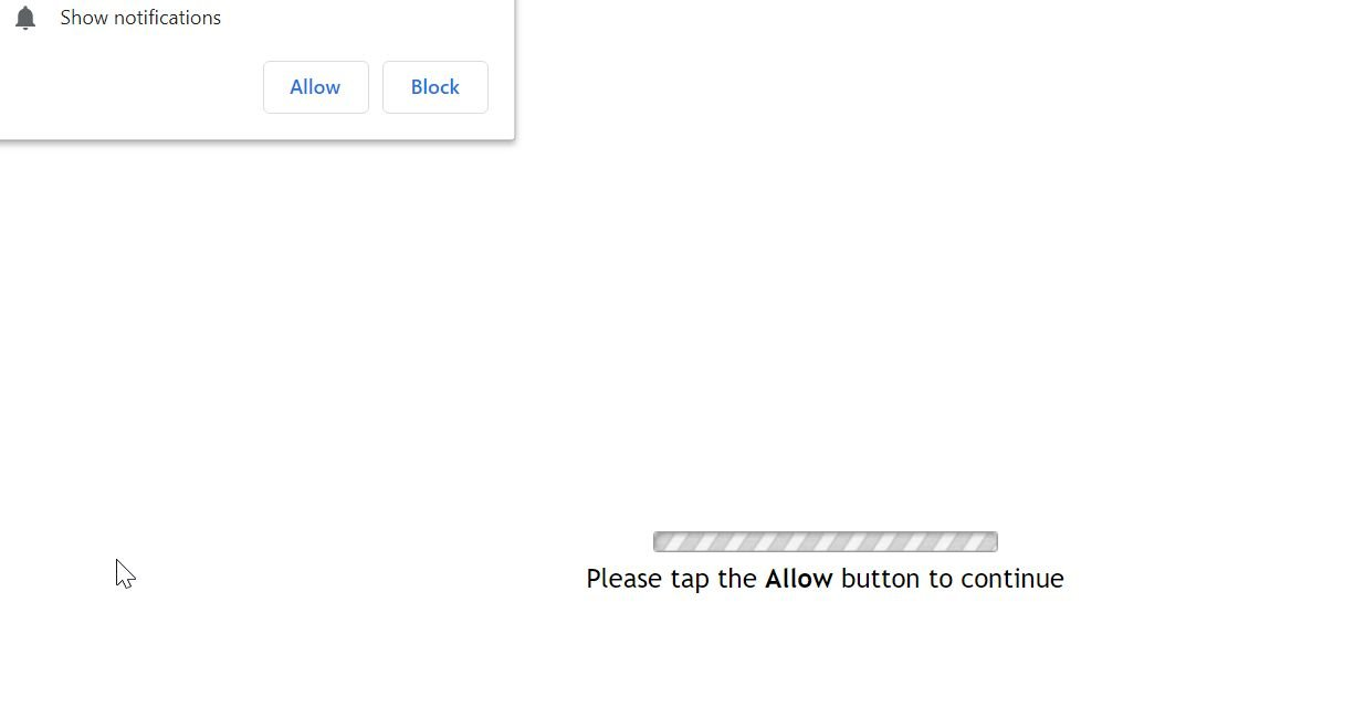 Image: Chrome browser is redirected to the Pushame.com site