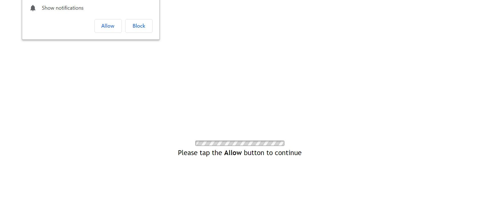 Image: Chrome browser is redirected to the Pushlommy.com site