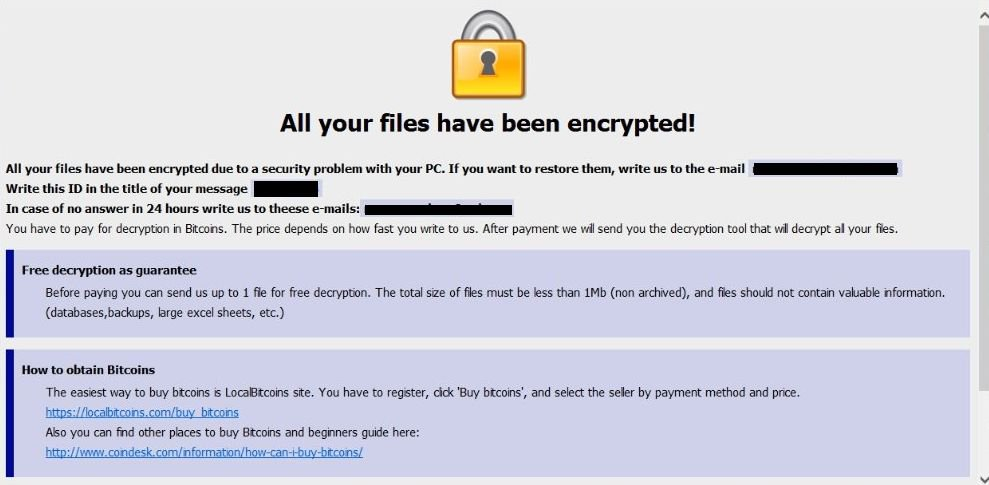free ransomware removal