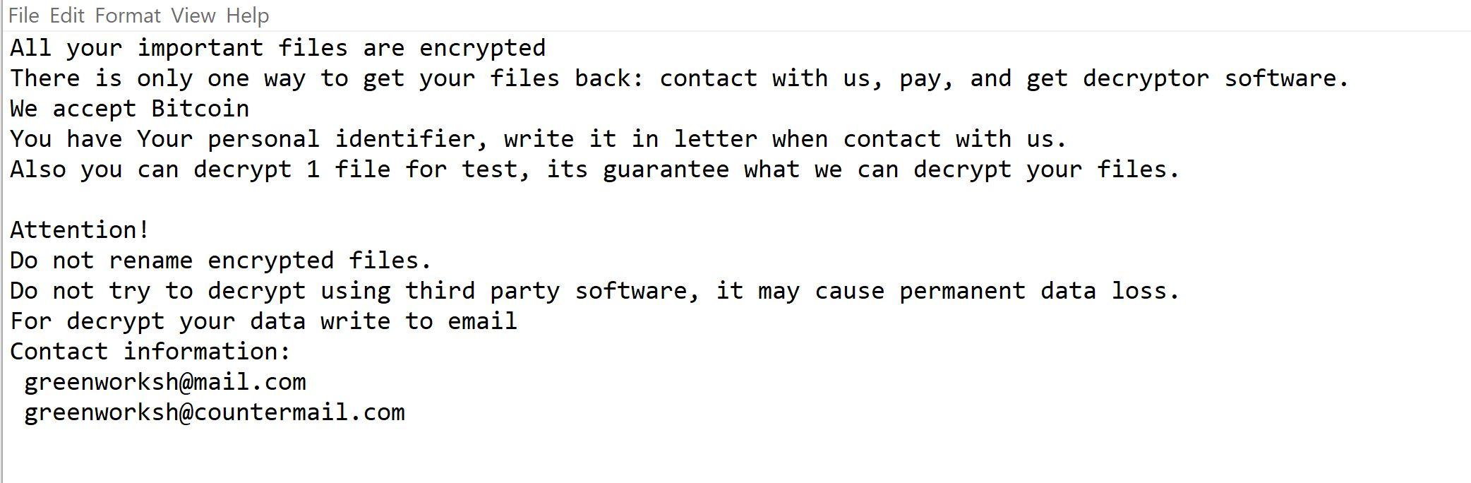 Image: Jamper ransomware
