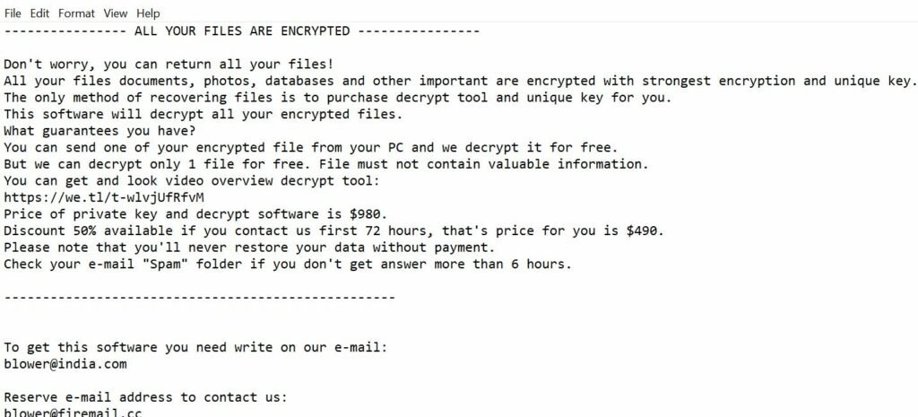 Pulsar1 ransomware