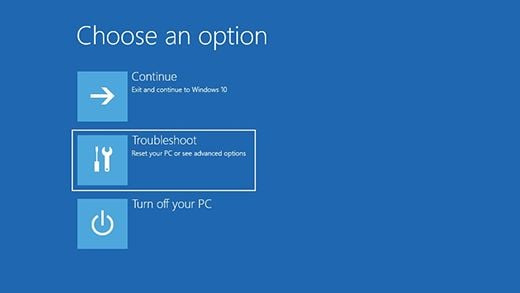 Windows 10 - Start in Safe Mode with Network - Step 1