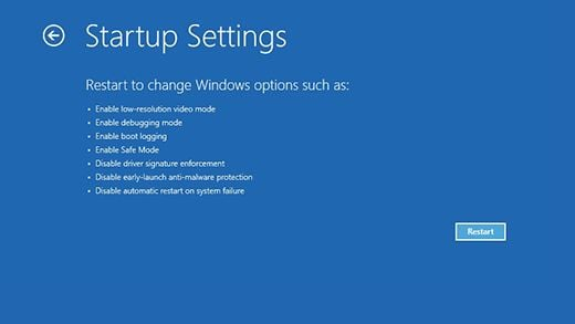 Windows 10 - Start in Safe Mode with Network - Step 4