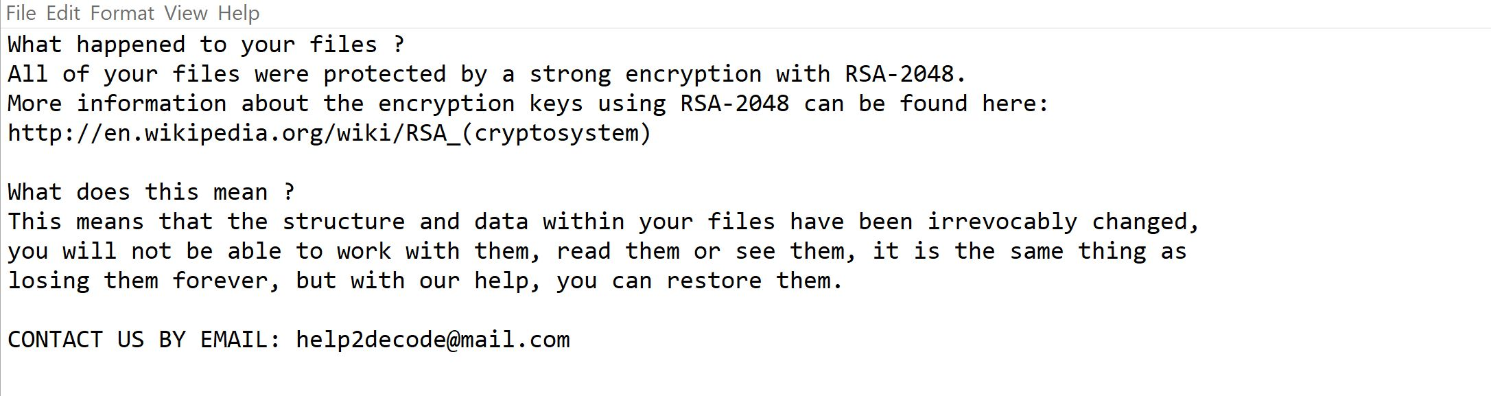 Image: a800 Ransomware