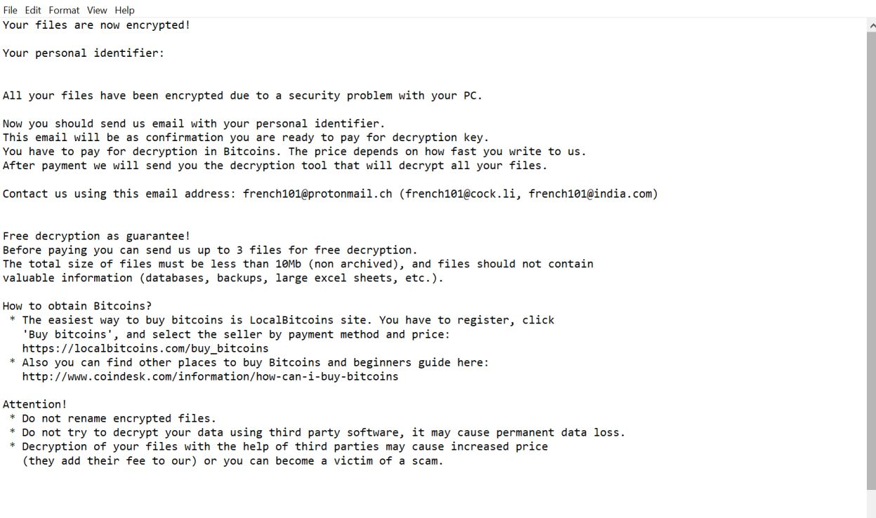 Image: French101 ransomware