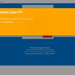 Image: Windows protected your PC - Tech Support Scam