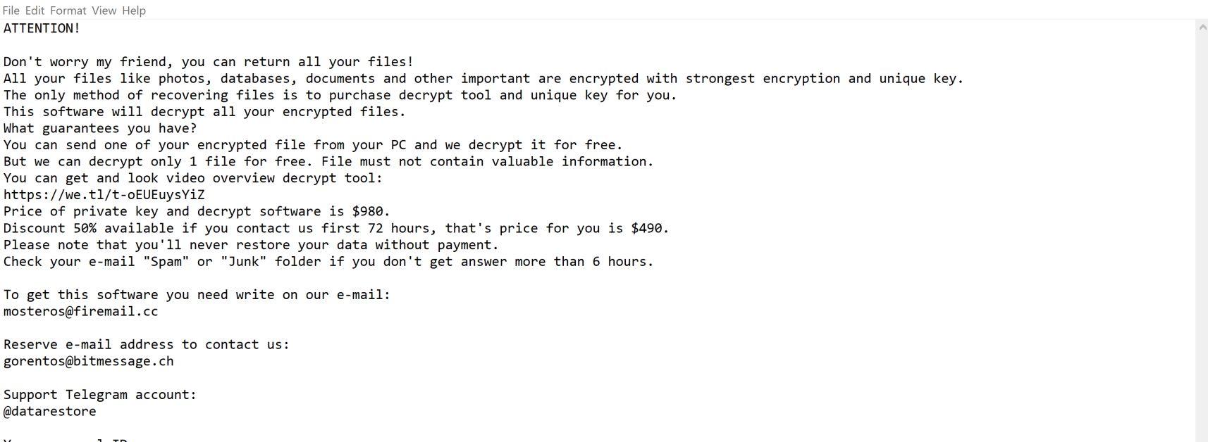 Image: Codnat ransomware
