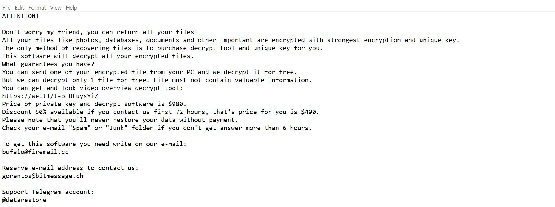 Ferosas ransomware