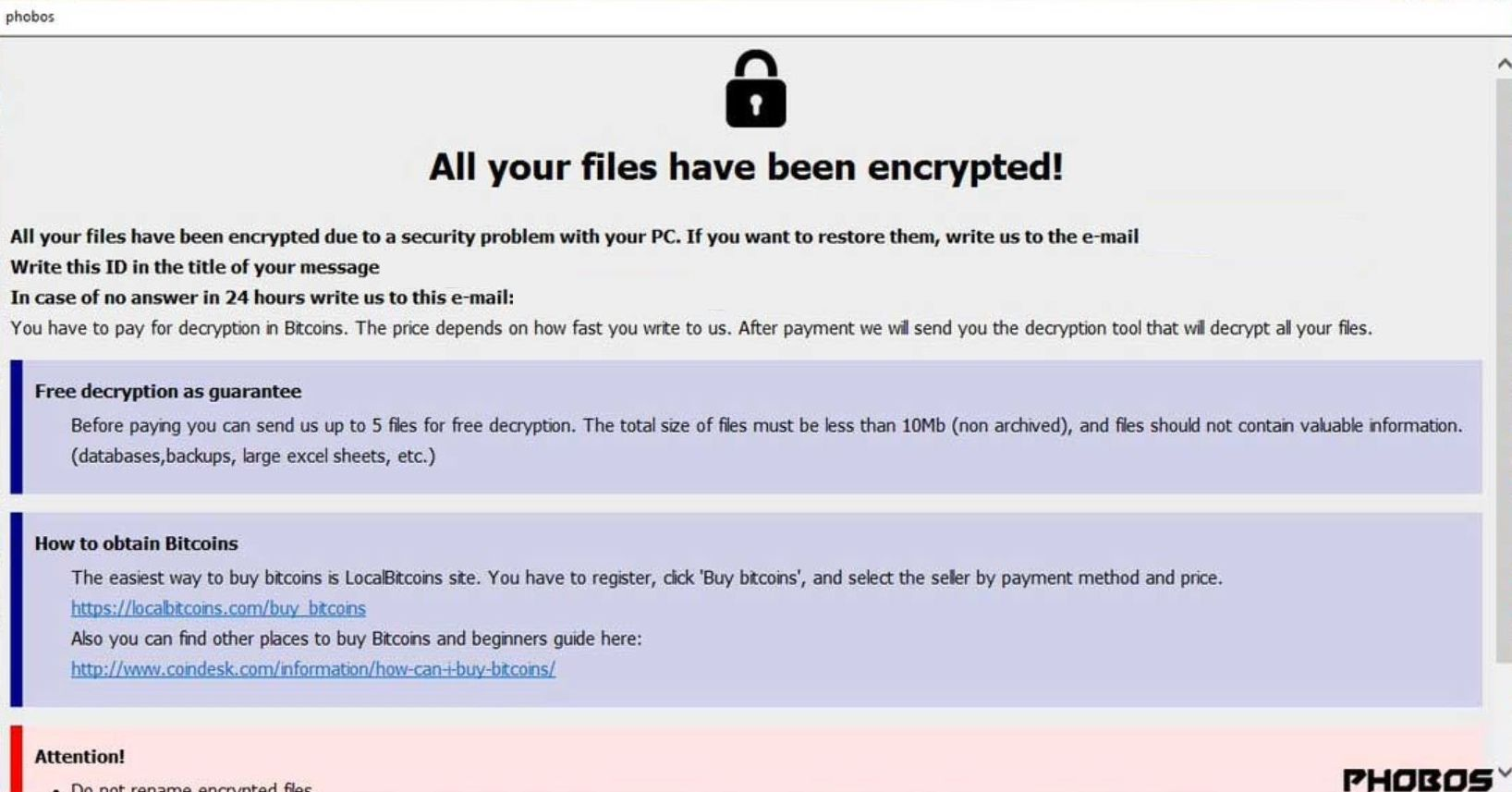 How to remove Phobos ransomware (Virus Removal Guide)