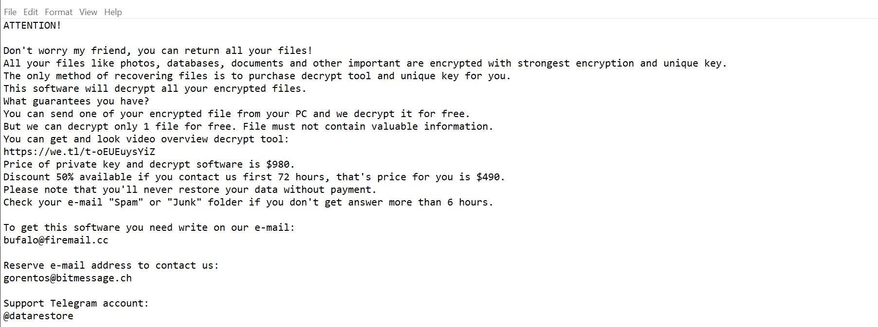 Image: Radman ransomware
