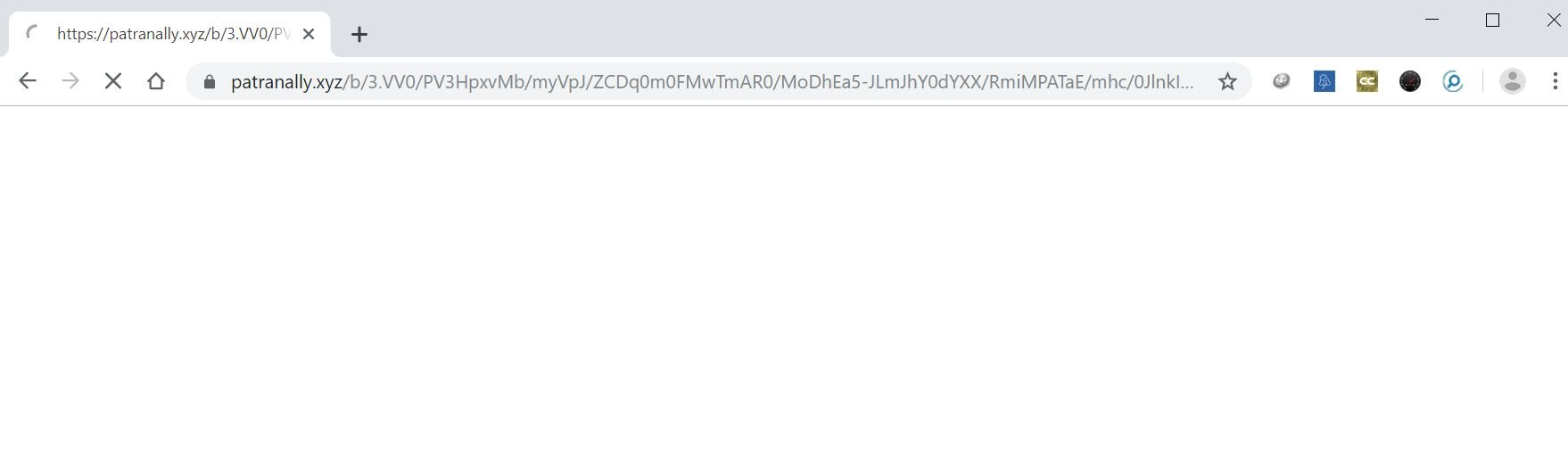 Image: Chrome browser is redirected to Patranally.xyz