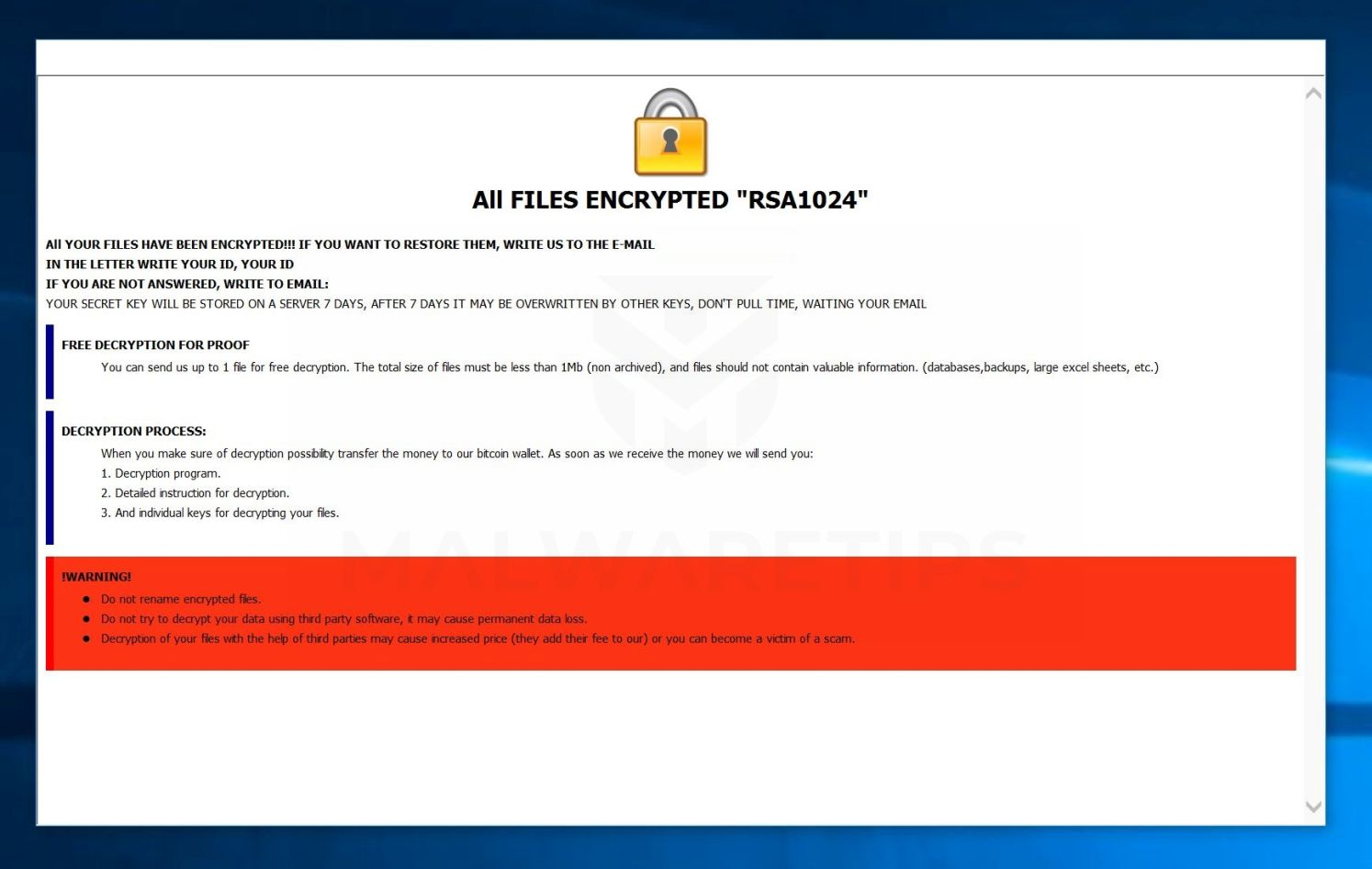 Image: [basecrypt@aol.com].BSC ransomware