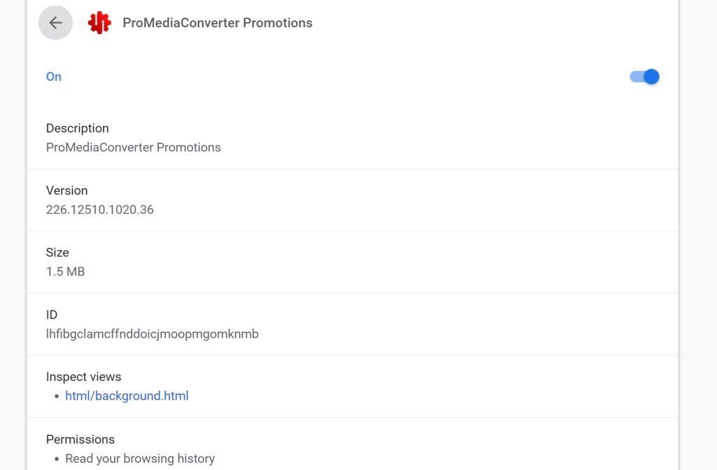 Image: ProMediaConverter Chrome extension