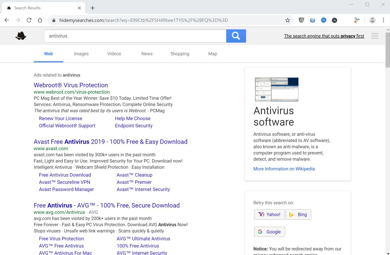 How to remove Hidemysearches com redirect (Virus Removal Guide)