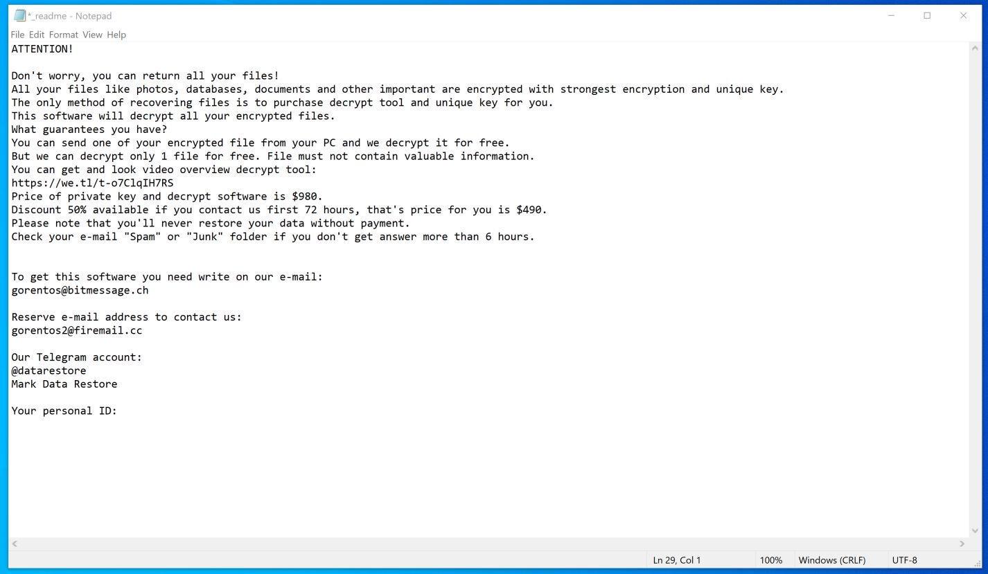 Image: Nuksus ransomware virus