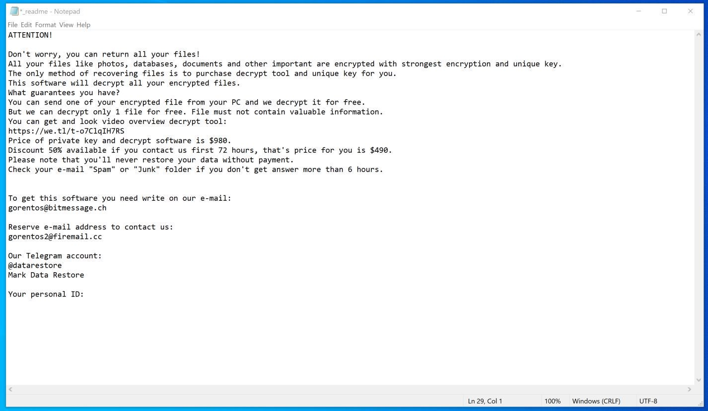 Image: Carote ransomware