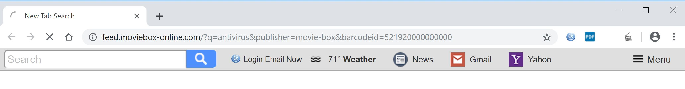 Image: Google Chrome is redirected to Feed.moviebox-online.com