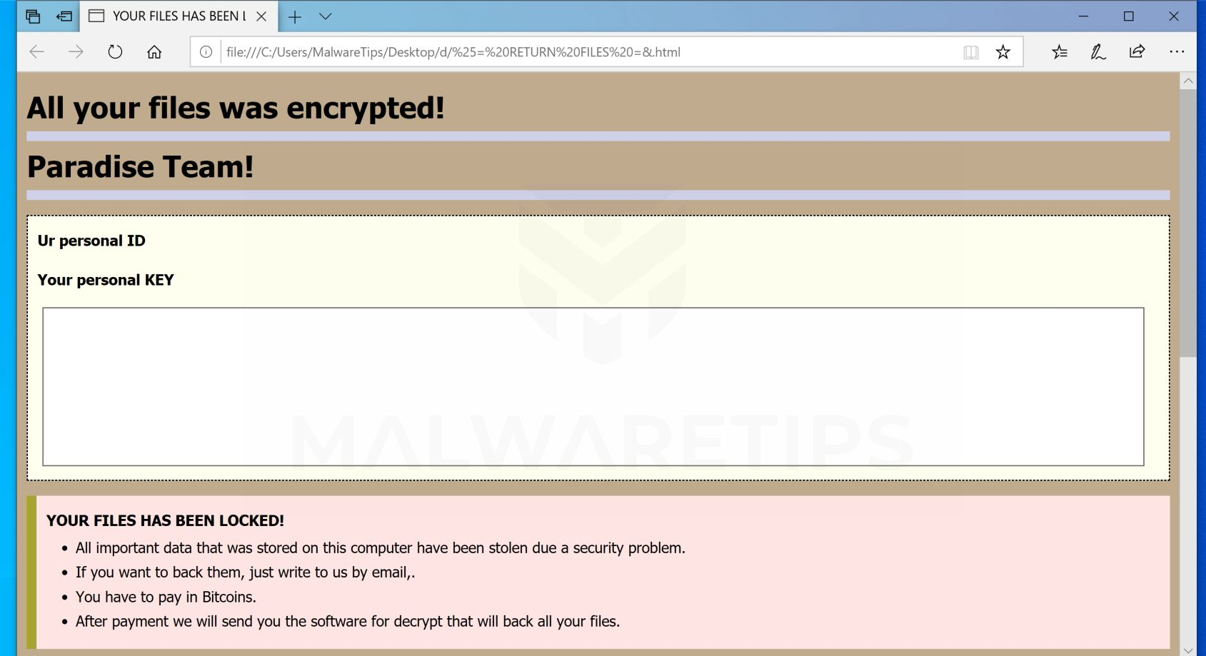Remove [mr yoba@aol com] junior ransomware (Virus Removal Guide)