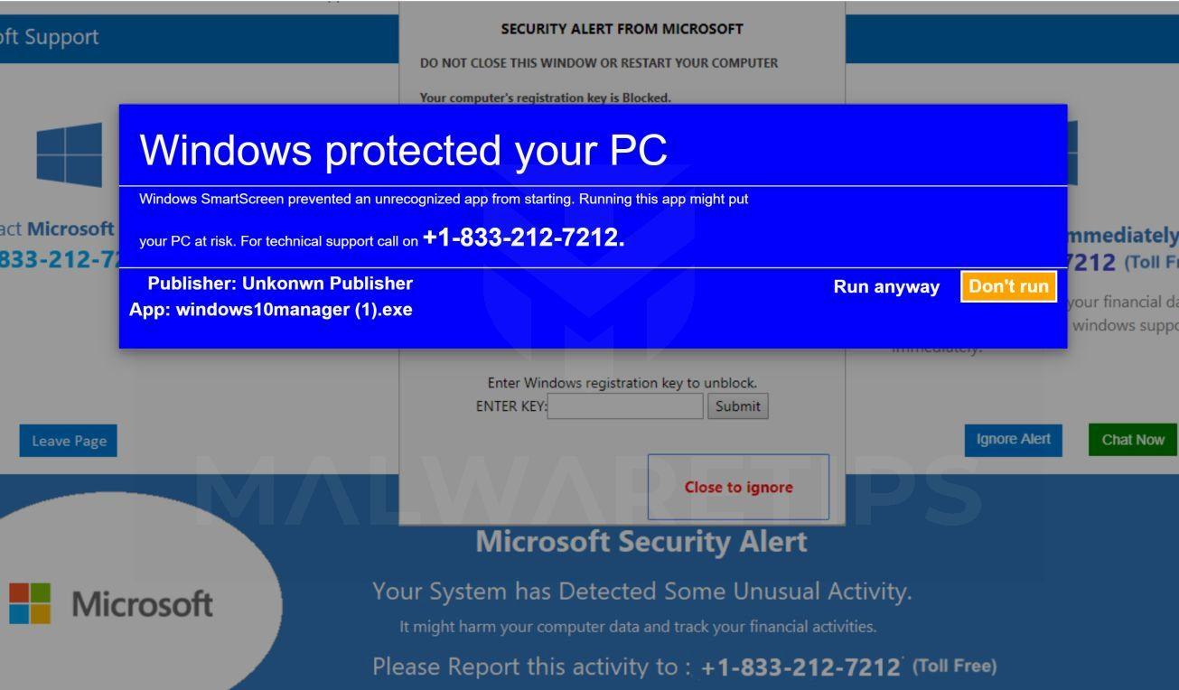 Image: ERROR # ER36dx9832(3) - Tech Support Scam