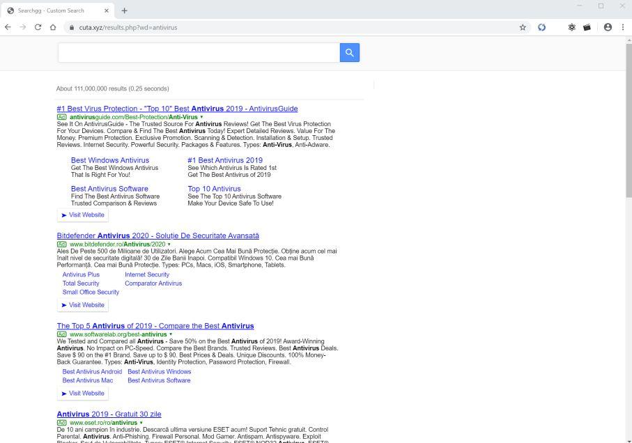 Image: Google Chrome is redirected to Cuta.xyz