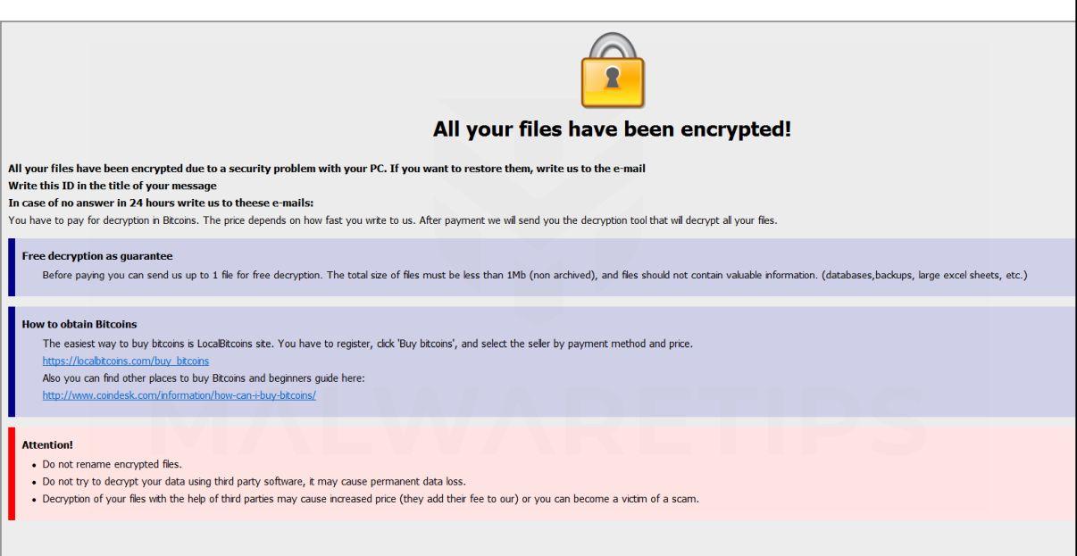 Image: [Blackmax@tutanota.com].KRAB ransomware