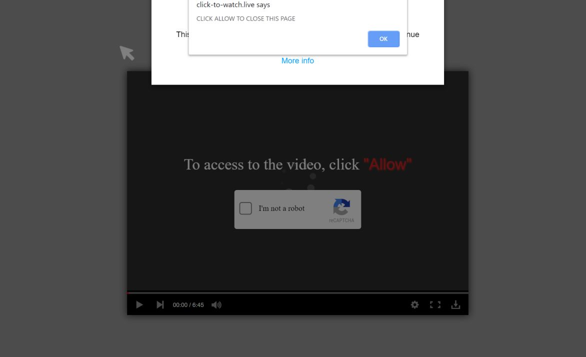 Image: Chrome browser is redirected to Click-to-watch.live
