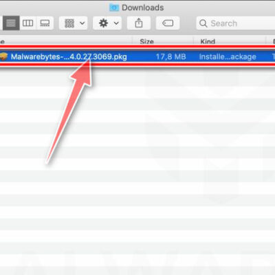 Double-click on setup file to install Malwarebytes Free