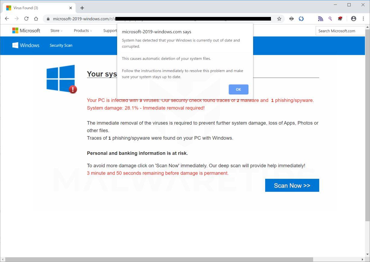 Image: Microsoft-2019-windows.com fake error messages
