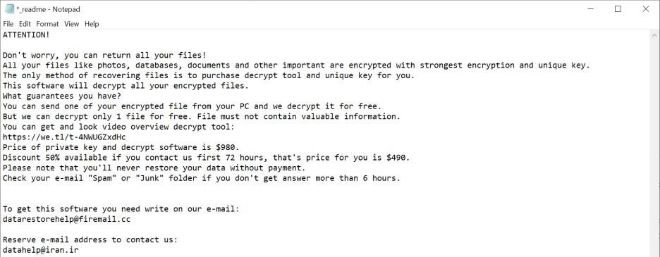 Image: Gesd ransomware