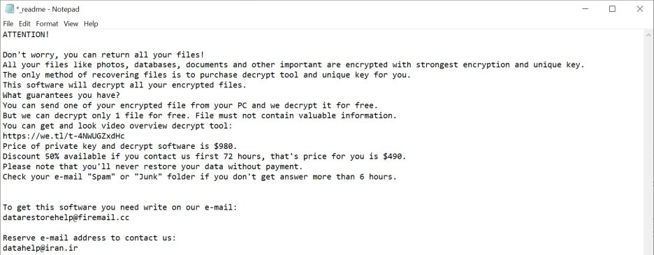 Image: Merl ransomware