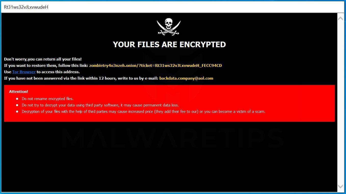 Image: [backdata.company@aol.com].ROGER ransomware