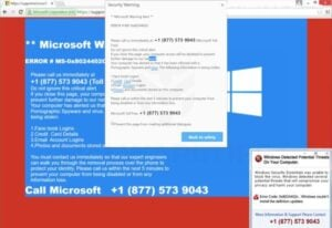 Remove Microsoft Tech Support pop-up scam (Virus Removal Guide)