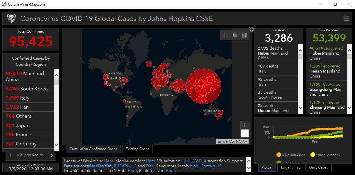 Image: Corona-Virus-Map.com malware virus