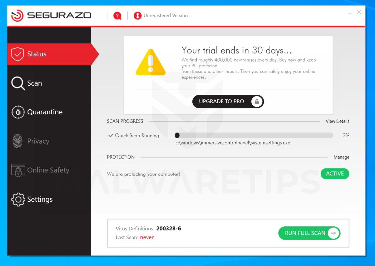 How To Remove Segurazo Antivirus Virus Removal Guide