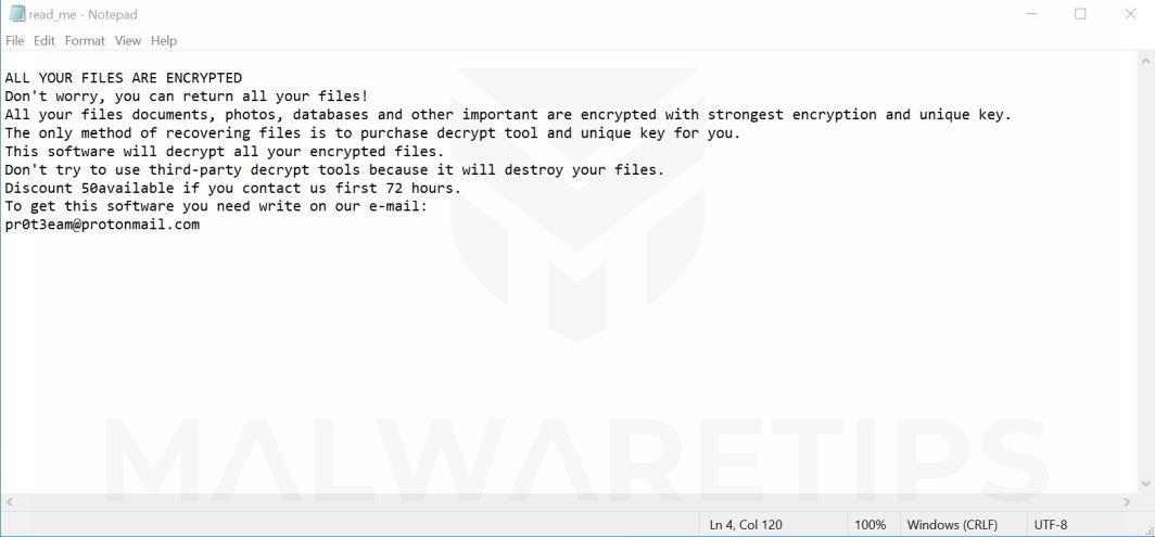 Image: ADHUBLLKA ransomware