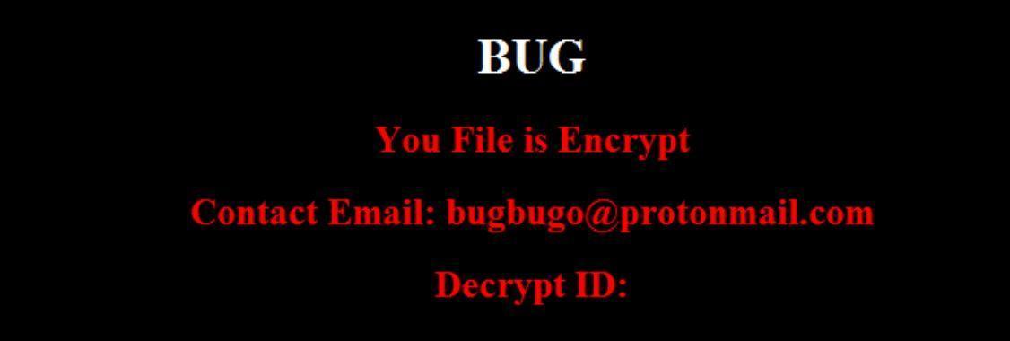 Image: BUG ransomware