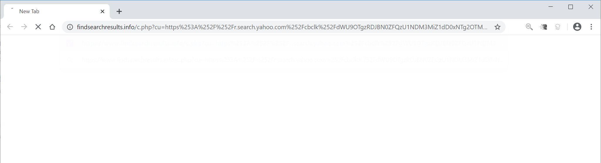 Image: Chrome browser is redirected to Findsearchresults.info